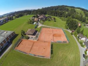Luftaufnahme Tennisanlage